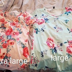 Tops - 🥀NWOT Two floral womans tees🌹
